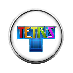 Tetris- 18MM Glass Dome Candy Snap Charm GD0163