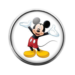 Mickey Mouse- 18MM Glass Dome Candy Snap Charm GD0160