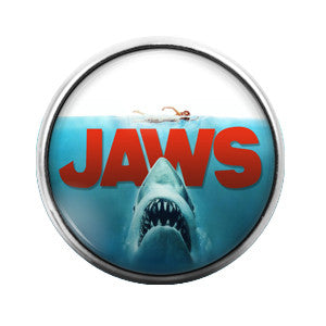 Jaws - 18MM Glass Dome Candy Snap Charm GD0188