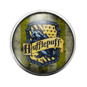 Harry Potter Hufflepuff- 18MM Glass Dome Candy Snap Charm GD0165