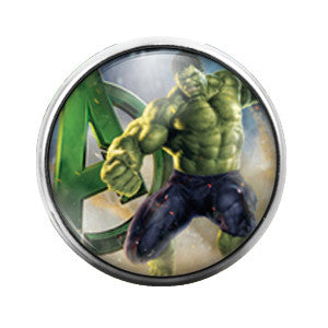 Hulk- 18MM Glass Dome Candy Snap Charm GD0164