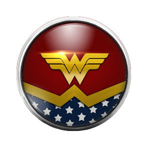 Wonder Woman - 18MM Glass Dome Candy Snap Charm GD0117