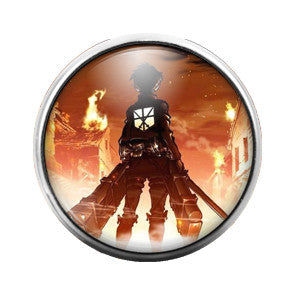 Attack on Titan - 18MM Glass Dome Candy Snap Charm GD0348