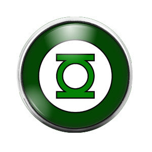 Green Lantern- 18MM Glass Dome Candy Snap Charm GD0128