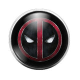 Deadpool- 18MM Glass Dome Candy Snap Charm GD0127