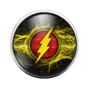 The Flash - 18MM Glass Dome Candy Snap Charm GD0109