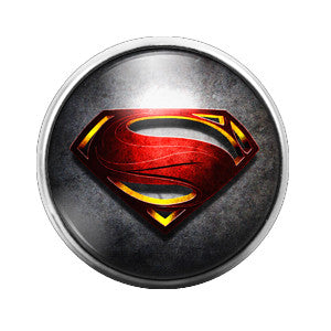 Superman - 18MM Glass Dome Candy Snap Charm GD0111