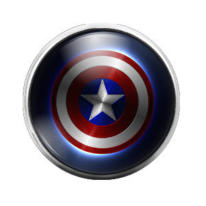 Captain America - 18MM Glass Dome Candy Snap Charm GD0114