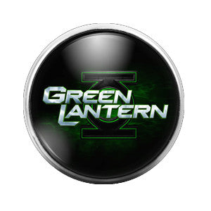 Green Lantern - 18MM Glass Dome Candy Snap Charm GD0121