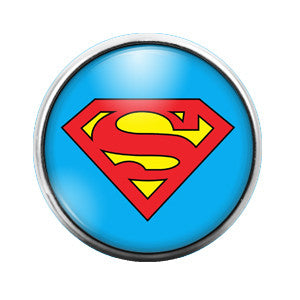 Superman - 18MM Glass Dome Candy Snap Charm GD0116