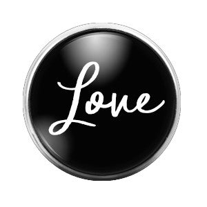Love - 18MM Glass Dome Candy Snap Charm GD0267