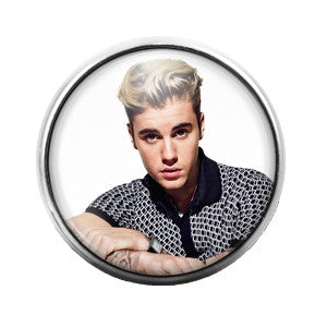 Justin Bieber - 18MM Glass Dome Candy Snap Charm GD0332