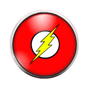 The Flash - 18MM Glass Dome Candy Snap Charm GD0112