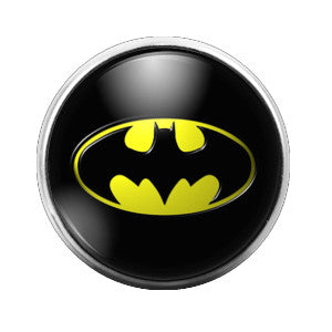 Batman- 18MM Glass Dome Candy Snap Charm GD0320