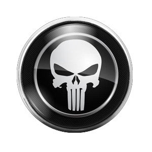 Punisher - 18MM Glass Dome Candy Snap Charm GD0118