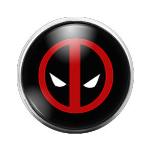 Deadpool - 18MM Glass Dome Candy Snap Charm GD0113