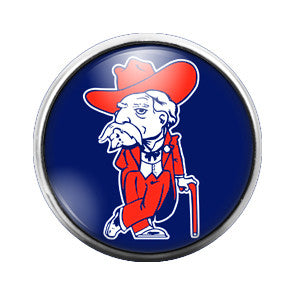 Ole Miss Rebels- 18MM Glass Dome Candy Snap Charm GD0037
