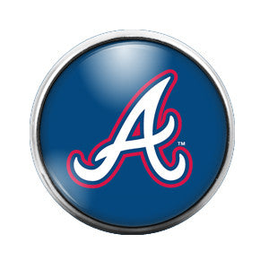 Atlanta Braves - 18MM Glass Dome Candy Snap Charm GD0016