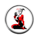 Harley Quinn- 18MM Glass Dome Candy Snap Charm GD0129