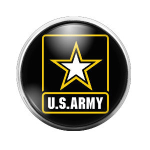 US. Army Emblem - 18MM Glass Dome Candy Snap Charm GD0265