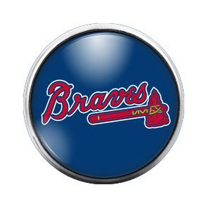 Atlanta Braves - 18MM Glass Dome Candy Snap Charm GD0015