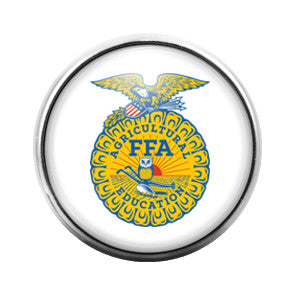 FFA Future Farms of America- 18MM Glass Dome Candy Snap Charm GD0041