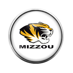 Mizzou Tigers- 18MM Glass Dome Candy Snap Charm GD0033