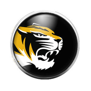 Mizzou Tigers- 18MM Glass Dome Candy Snap Charm GD0036