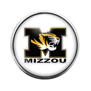 Mizzou Tigers- 18MM Glass Dome Candy Snap Charm GD0034