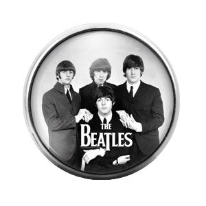 The Beatles - 18MM Glass Dome Candy Snap Charm GD0344