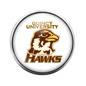 Quincy University Hawks - 18MM Glass Dome Candy Snap Charm GD0007