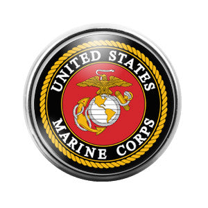 Marines Marine Corp- 18MM Glass Dome Candy Snap Charm GD0040