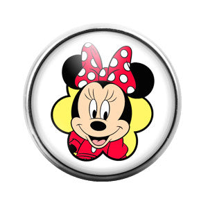 Minnie Mouse - 18MM Glass Dome Candy Snap Charm GD0209