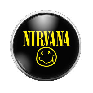 Nirvana - 18MM Glass Dome Candy Snap Charm GD0377