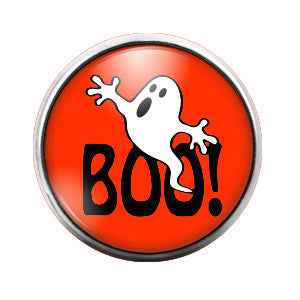 Boo Ghost Halloween- 18MM Glass Dome Candy Snap Charm GD0069