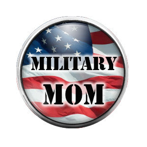 Military Mom - 18MM Glass Dome Candy Snap Charm GD0263