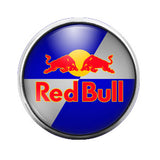 Red Bull- 18MM Glass Dome Candy Snap Charm GD0130