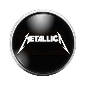 Metallica - 18MM Glass Dome Candy Snap Charm GD0355