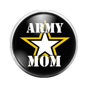 Army Mom - 18MM Glass Dome Candy Snap Charm GD0264