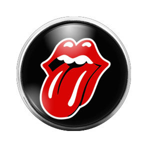 Rolling Stones- 18MM Glass Dome Candy Snap Charm GD0323