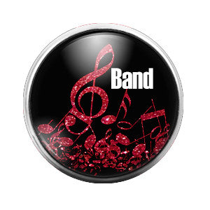 Band - 18MM Glass Dome Candy Snap Charm GD0260