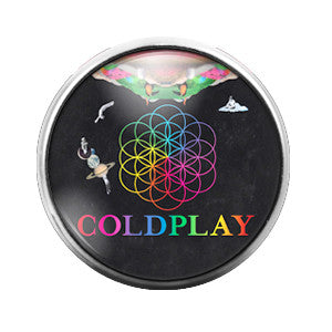 Cold Play - 18MM Glass Dome Candy Snap Charm GD0333