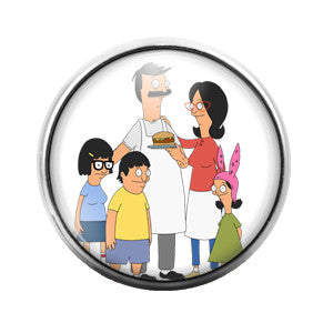 Bob's Burgers - 18MM Glass Dome Candy Snap Charm GD0347