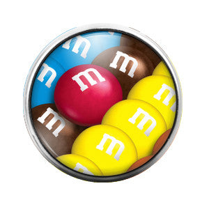 M&M's- 18MM Glass Dome Candy Snap Charm GD0319