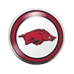 Arkansas Razorbacks - 18MM Glass Dome Candy Snap Charm GD0027