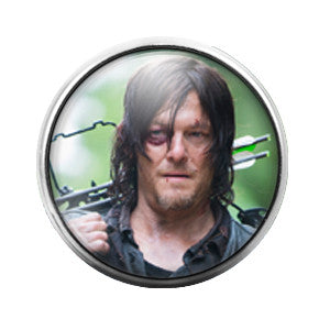 Walking Dead Daryl - 18MM Glass Dome Candy Snap Charm GD0354
