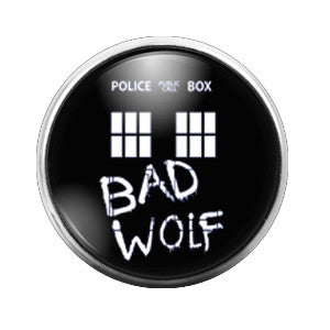 Doctor Who Bad Wolf - 18MM Glass Dome Candy Snap Charm GD0366