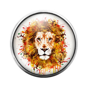 Lion - 18MM Glass Dome Candy Snap Charm GD0375