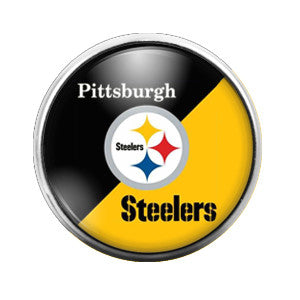 Pittsburgh Steelers - 18MM Glass Dome Candy Snap Charm GD0023