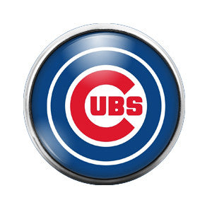 Chicago Cubs - 18MM Glass Dome Candy Snap Charm GD0031